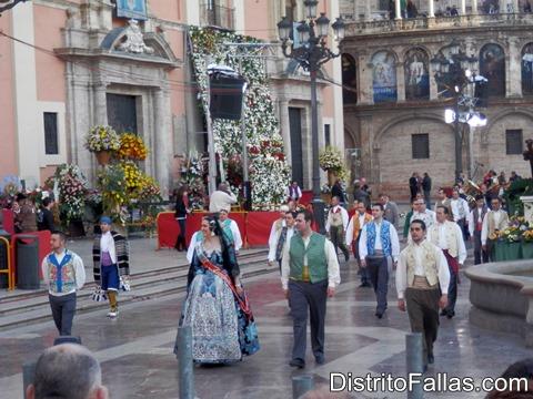 Ofrenda de Flores en 2013, València