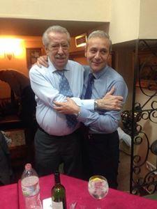 Jesús Barrachina y Santiago Ballester, antiguo y nuevo presidente de Convento (foto: Facebook).