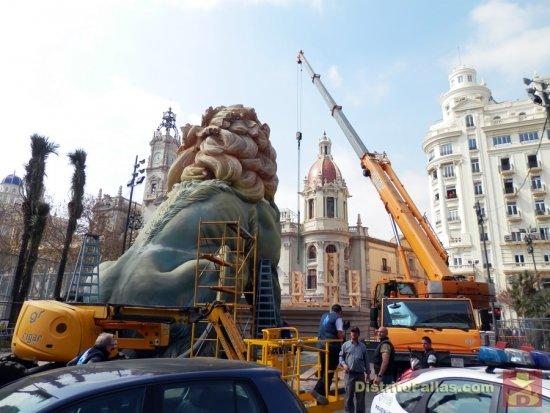 Plantà de la falla del Ayuntamiento de València 2015