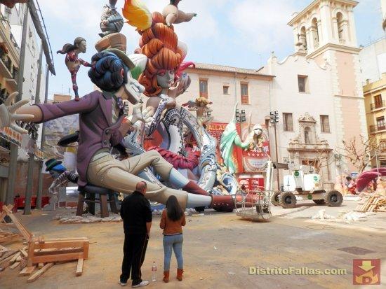Plantà de la falla de la Plaza del Pilar de 2015