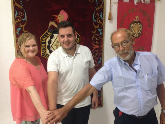 Xavier Urreña firma con la Falla Mercado Central (Valencia) 2017