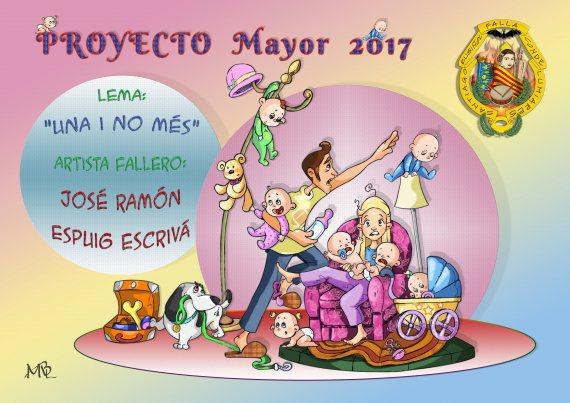 Boceto de la falla grande de Santiago Rusiñol-Conde de Lumiares 2017