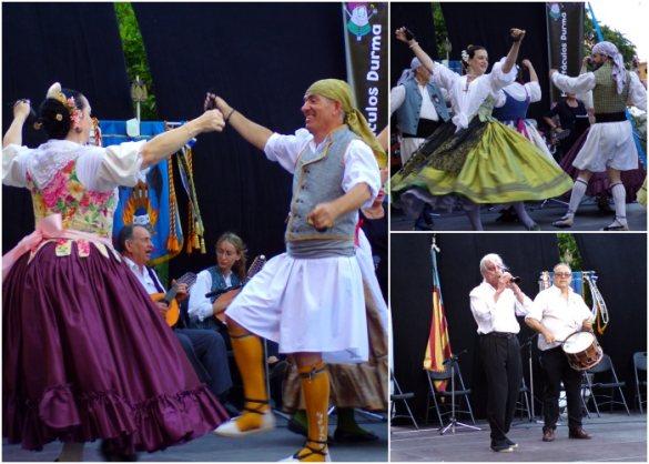 Bailes regionales valencianos en el XIV Festival de Folklore i Dansà de la Falla El Empalme (Burjassot)