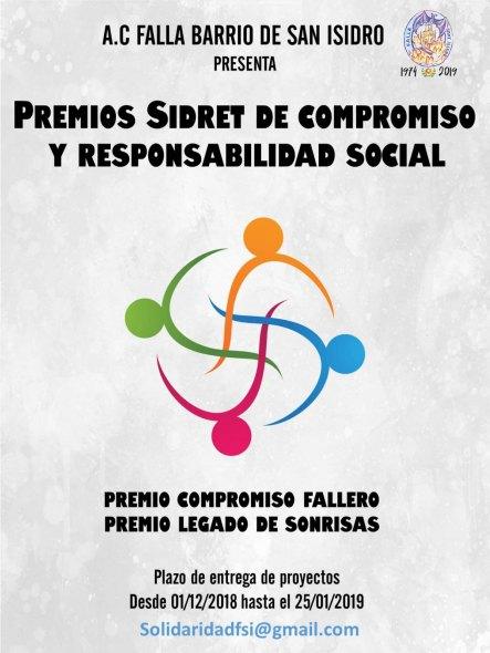 Cartel de los premios Sidret (Falla Sant Isidre)