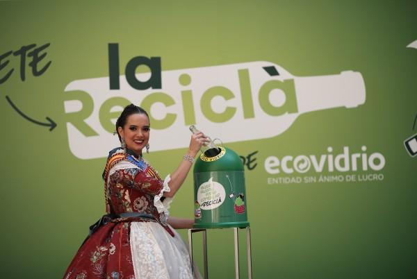 La fallera mayor de Valencia, en la presentación de la Reciclà 2019