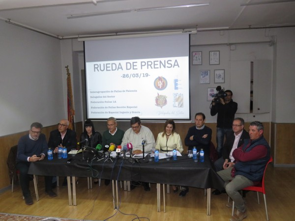 Rueda de prensa de Interagrupación, federaciones y delegados de sector