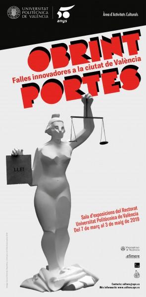 """Cartel de la exposición """"Obrint portes"""" de la UPV"""