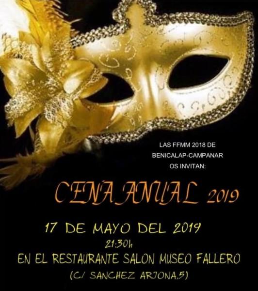 artel de la cena anual de las falleras mayores de Benicalap-Campanar 2018