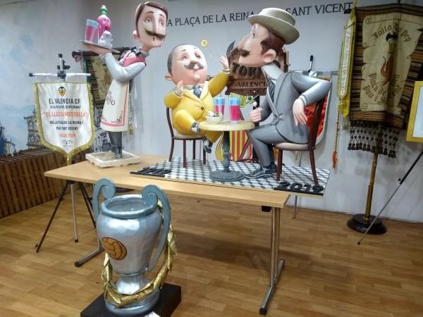 Indultos de la Falla Reina-Paz-San Vicente destinados al museo del Valencia CF