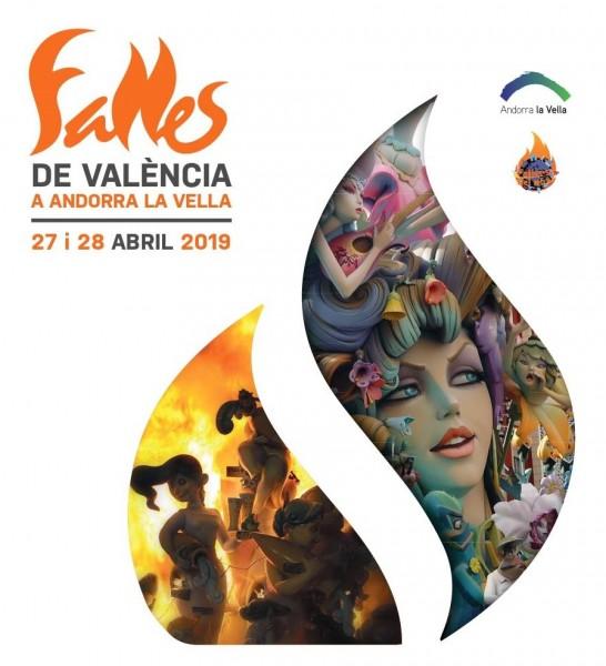 Cartel de las Fallas de Andorra 2019 (Fallers pel Món)