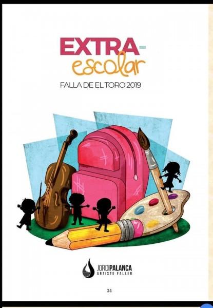 Boceto de la falla infantil de El Toro (Calvià, Mallorca) 2019