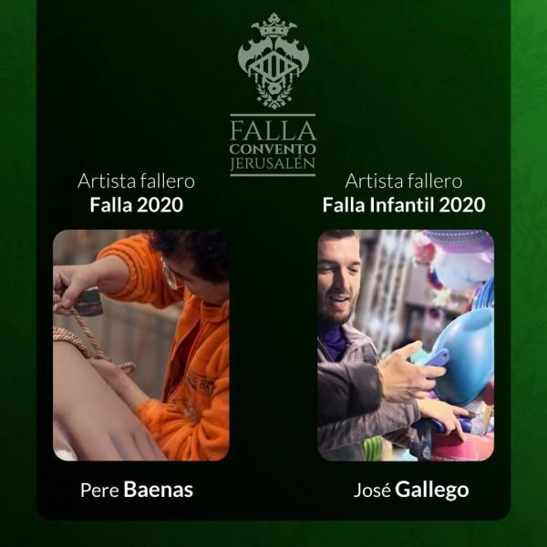 Artistas falleros de Convento 2020