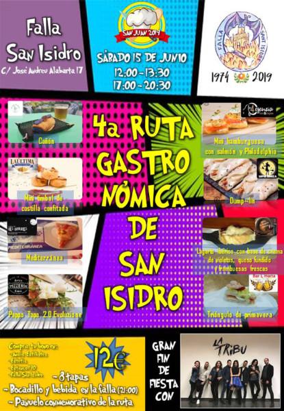 Cartel de la 4ª Ruta Gastronómica de la Falla San Isidro
