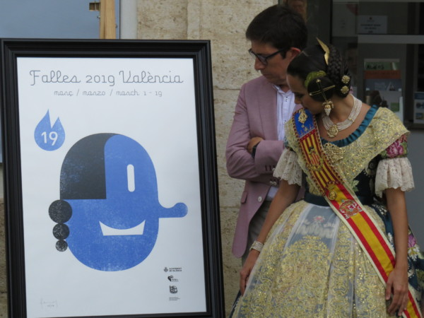 Recepción del cartel oficial de las Fallas de Valencia 2019