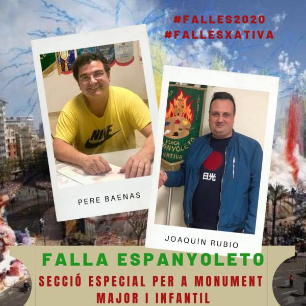 Artistas de la Falla Espanyoleto (Xàtiva) de 2020