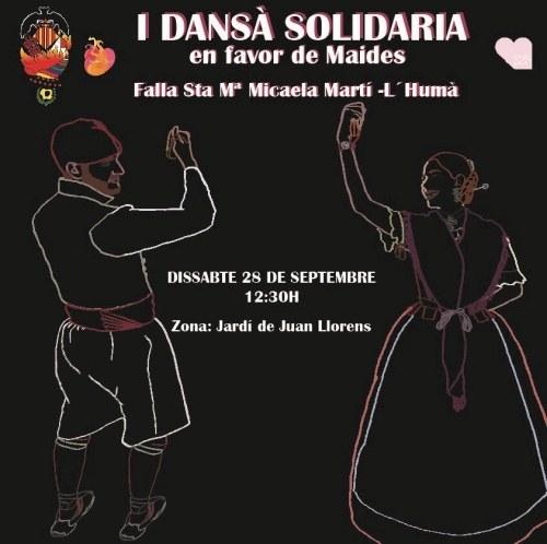 Cartel de la I Dansà Solidaria (Falla Santa Mª Micaela-Martí l'Humà)