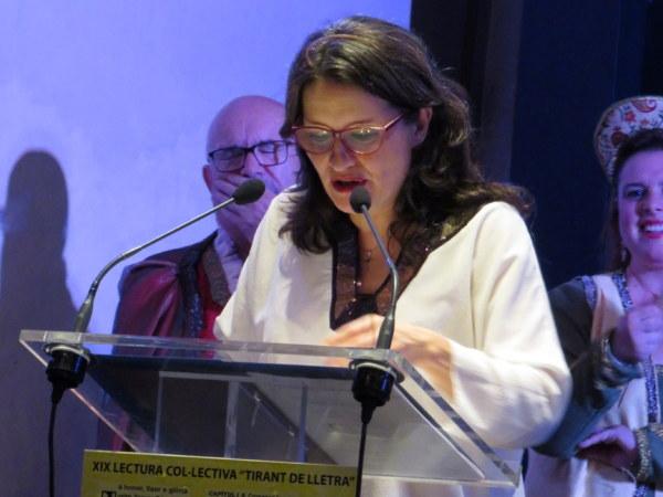Mònica Oltra, pregonera del Tirant de Lletra 2019