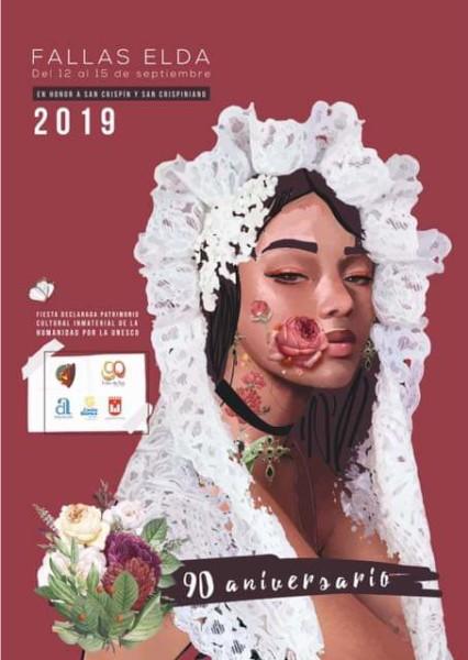 Cartel de las Fallas de Elda 2019