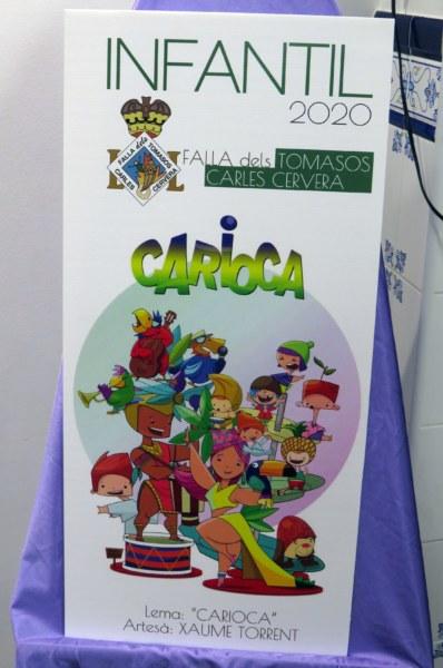 Boceto de la falla infantil de Tomasos-Carles Cervera 2020