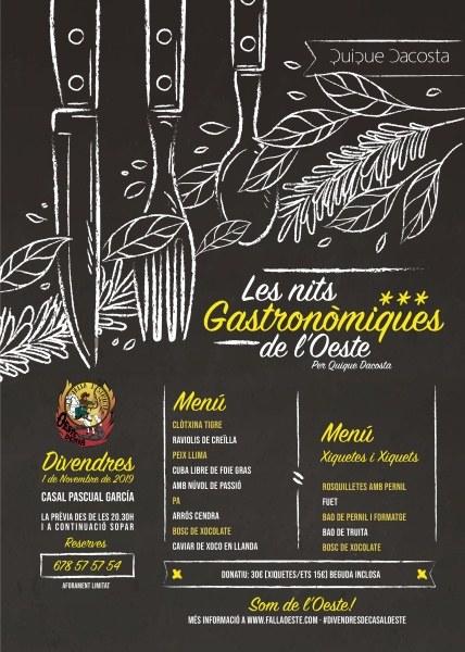 Cartel de las I Jornadas Gastronómicas de la Falla Oeste (Dénia)