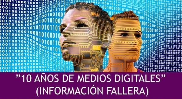 """Cartel de la charla """"10 años de medios digitales"""" de Hablemos de Fallas"""