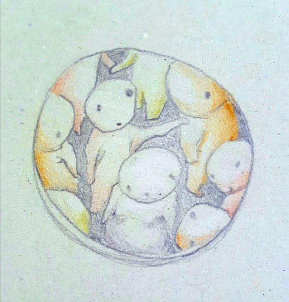 Boceto de la falla infantil de Plaza de Jesús 2020