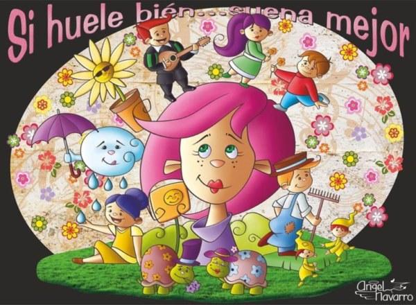 Boceto de la falla infantil de El Quarantahuit 2020