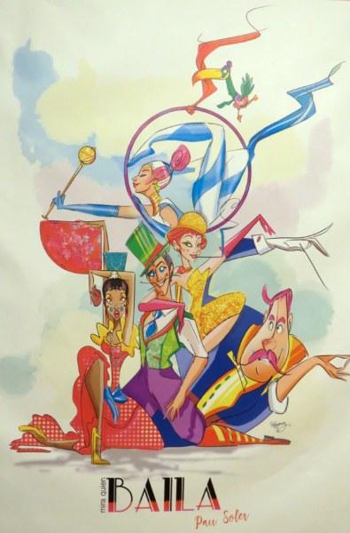 Boceto de la falla grande de Santa María Micaela-Martín El Humano 2020