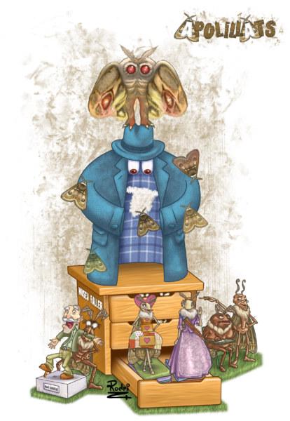 Boceto de la falla grande de Rubén Darío-Fray Luis Colomer 2020