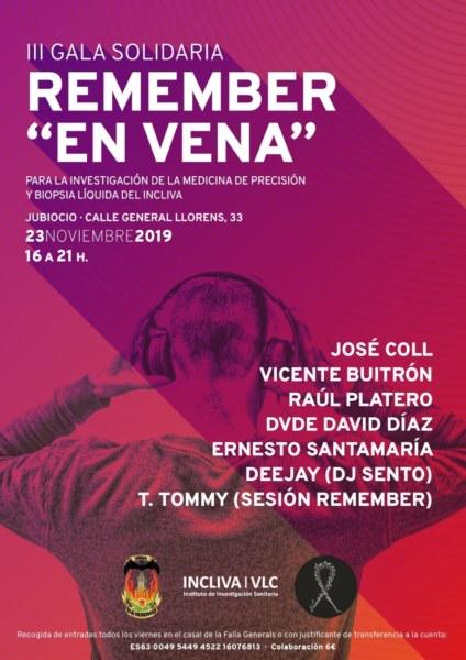 """Cartel de la III Gala Solidaria """"En Vena"""" (Falla Els Generals)"""