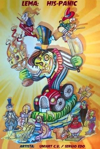 Boceto de la falla grande de Manuel Candela-Avenida del Puerto 2020