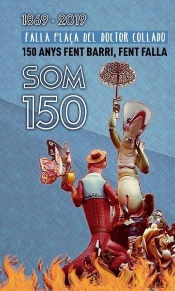 Portada del libro del 150º aniversario de la Falla Plaza Dr. Collado