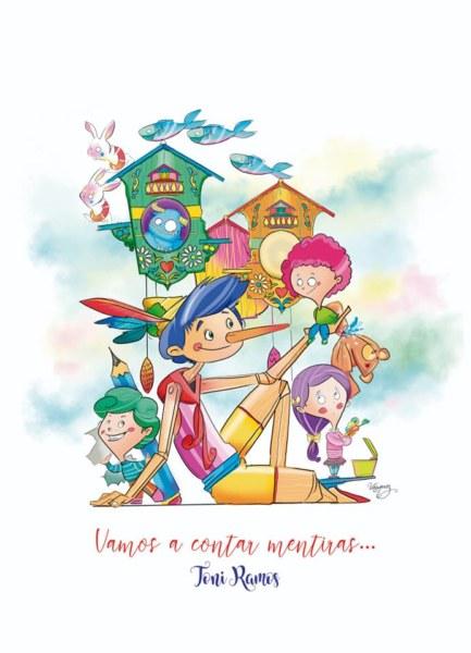 Boceto de la falla infantil de Cádiz-Literato Azorín 2020