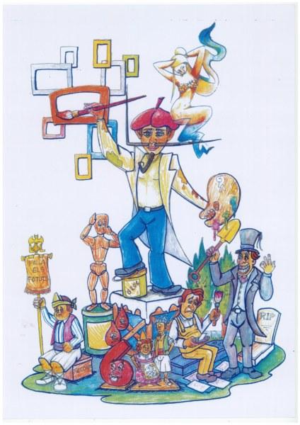 Boceto de la falla grande de Vicente Sancho Tello-Chile 2020