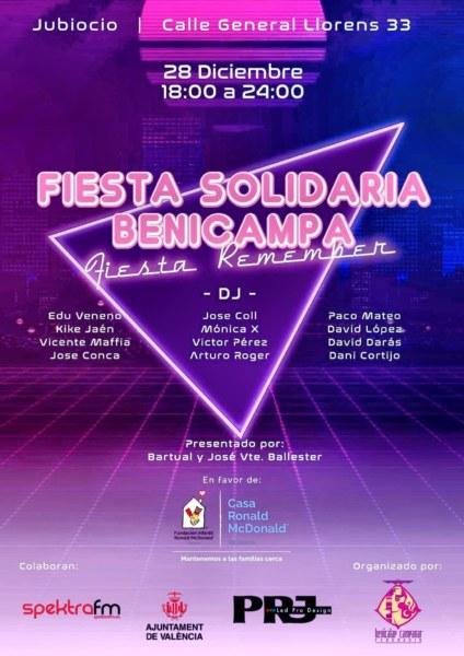 Cartel II Fiesta Solidaria Benicampa