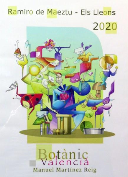 Boceto de la falla infantil de Ramiro de Maeztu-Leones 2020