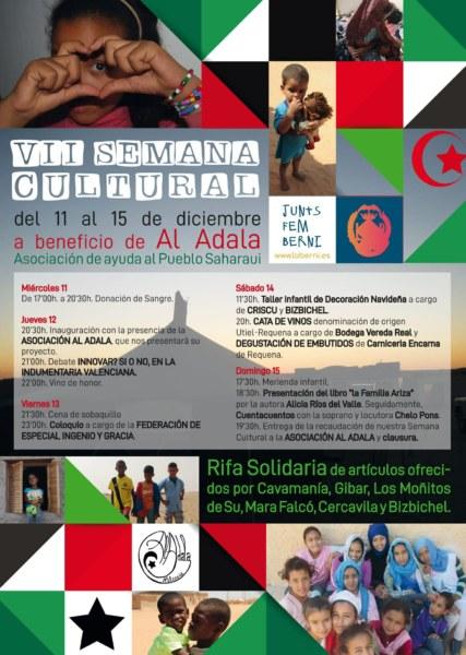 Cartel de la VII Semana Cultural de la Falla La Berni