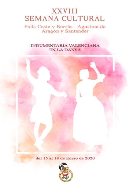 Cartel de la seman cultural de Costa y Borrás-Agustina de Aragón 2020
