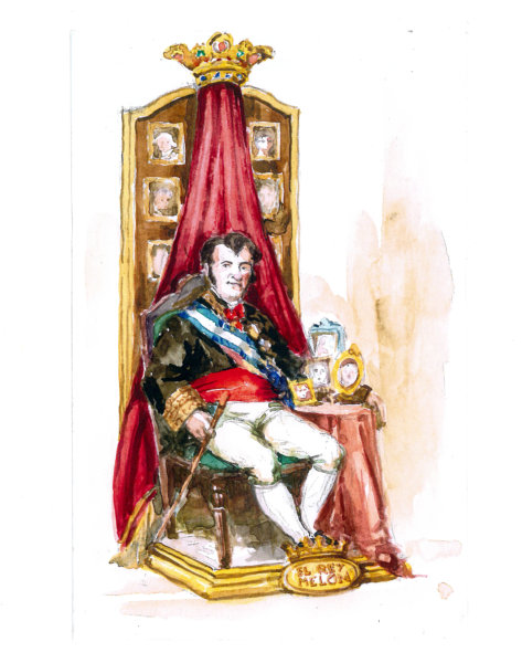 Boceto del la figura para Exposición del Ninot 2020 de Reina-Paz-San Vicente
