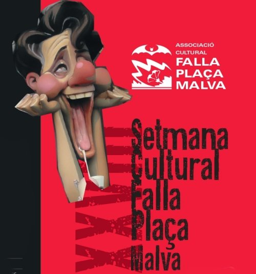 Cartel de la semana cultural Falla Plaça La Malva (Alzira) 2020