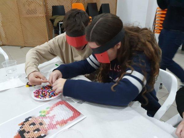 Taller de 'hamma bits' en la Falla Albacete-Marvá