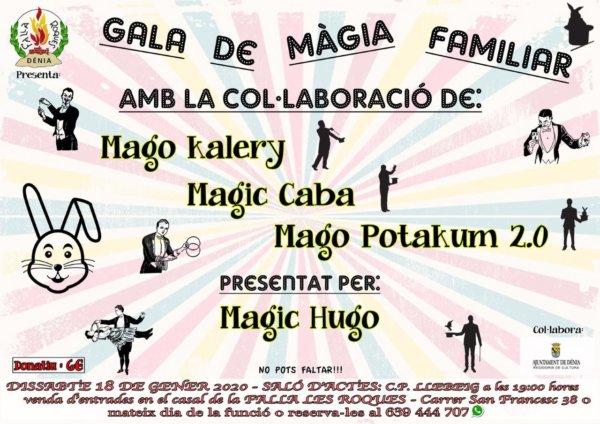 Cartel Gala de la Magia Familiar (Falla Les Roques, Dénia)