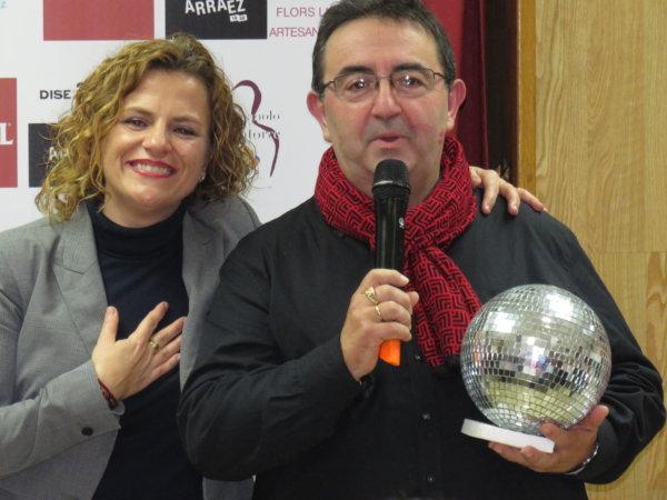 Pilar Bernabé y Hernán Mir, presentadores de los Premios Latorre 2020 (Falla Borrull-Socors)