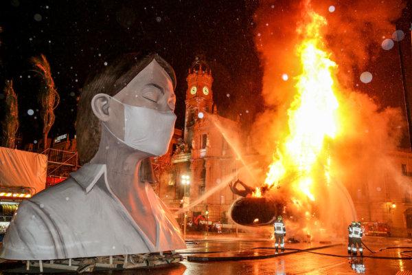 Cremà de la falla municipal de València 2020 (foto JCF)