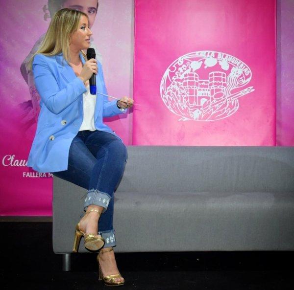 Gloria Martínez Amigó, presidenta de la Falla Blanquerías