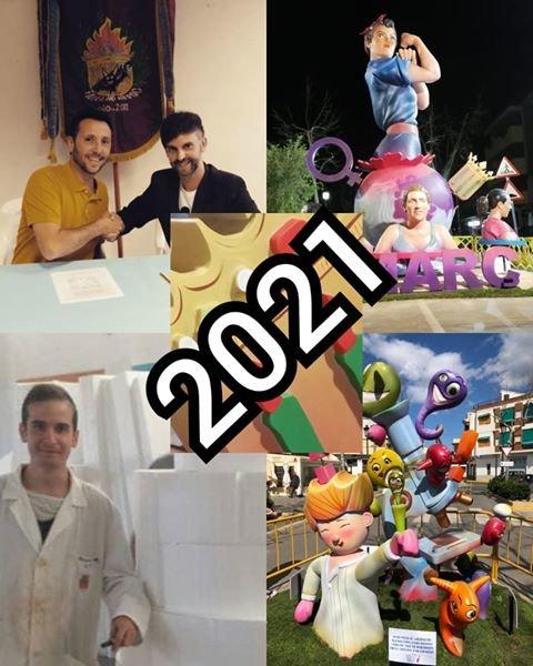 Artistas falleros para 2021 de la Falla No Ni Poc (Bolbaite)