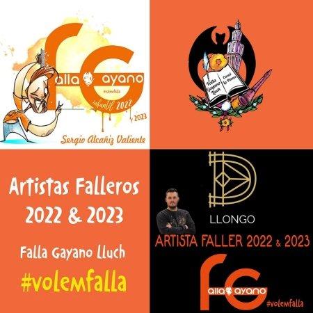 Artistas de la Falla Gayano hasta 2023