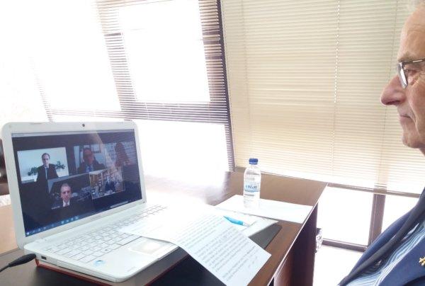 Videoconferencia de José Ramón Espuig con Felipe VI
