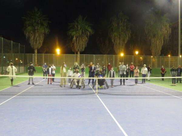 Inauguración del campeonato de tenis de JCF