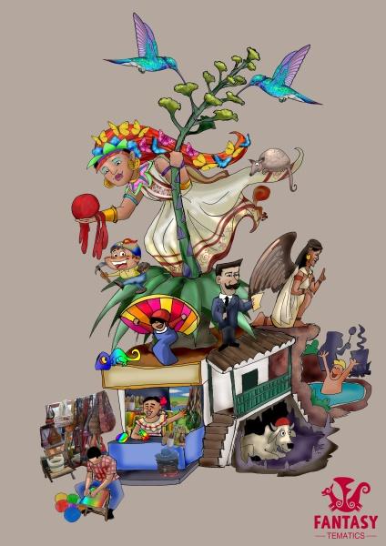 Boceto del monumento de Curití (Colombia), de Toni Fornes